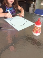 Easy toddler craft leaf pictures.
