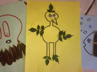 Toddler craft leaf bird