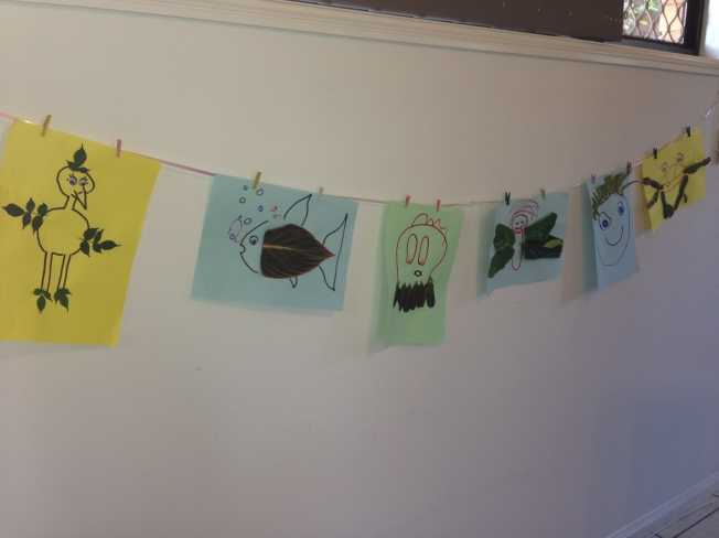 Hanging toddler craft
