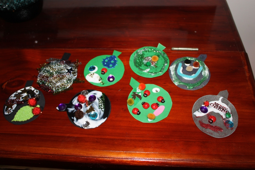 Easy Christmas craft - drying