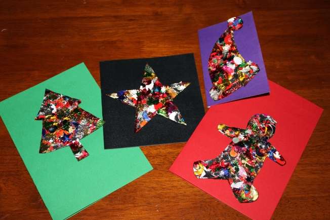 Home Made Christmas Cards Kids Craft