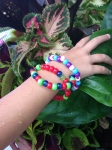 Memory Wire Bracelets, School holiday and Toddler Activity