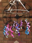 Beaded Mobile/Chandelier/Wind chime Family project.