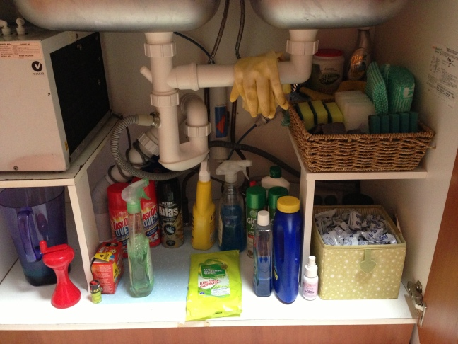 Under Sink Make over - after.