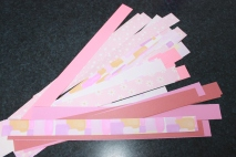 The cut strips.