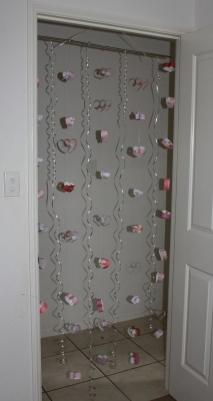 Hearts in the door way.