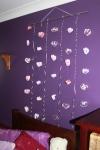 On purple wall