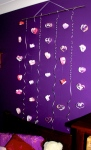 Valentine Craft – Hanging hearts Wall/door Decoration