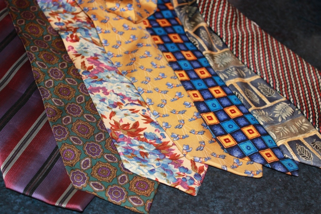 $20 worth of Op shop pure silk ties