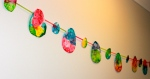 Bubble Painting Easter Garland, Toddler Craft Activity