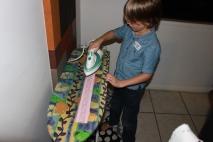 Ironing the fold,