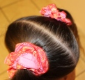 Finished scrunchies