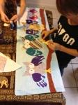 Glueing on thefeet