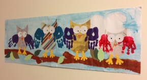 Owl family wall hanging.