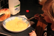 Kids love whisking!