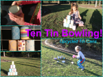 Ten Tin Bowling! Recycled Cans – Toddler Activity.