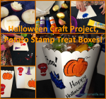 Halloween Toddler Craft, DIY Treat Boxes