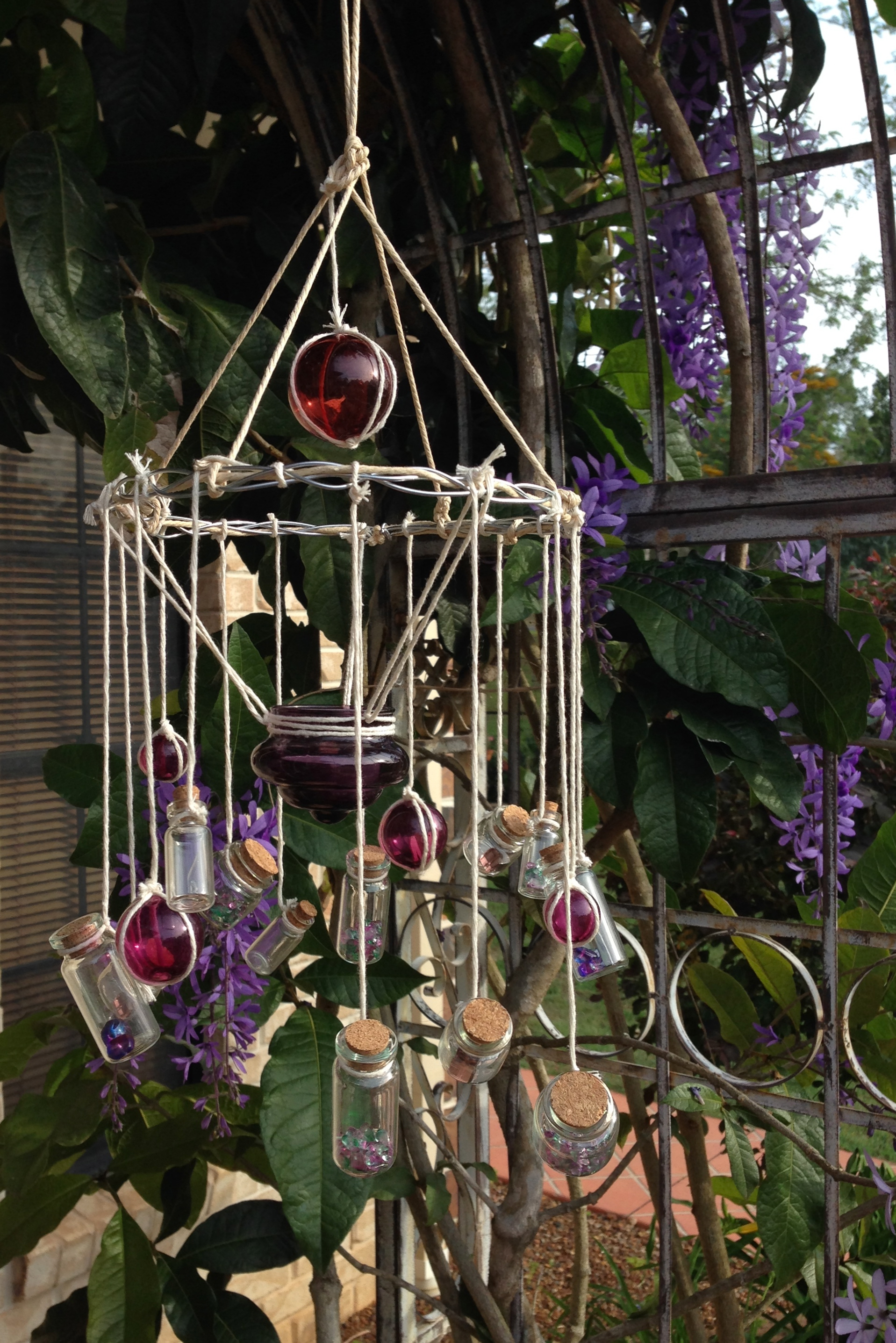 Diy wind chime candelabra sun catcher for Easy to make wind chimes