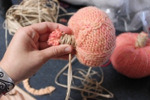 Raffia for the pink tones