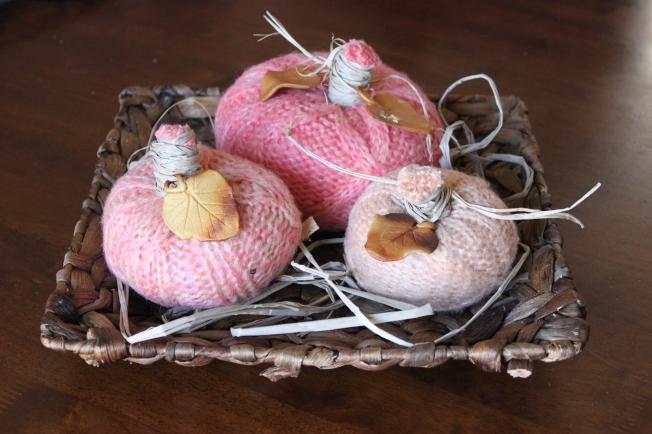 Pink tone pumpkins