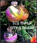 DIY Marble Effect Baubles, Family Christmas Craft