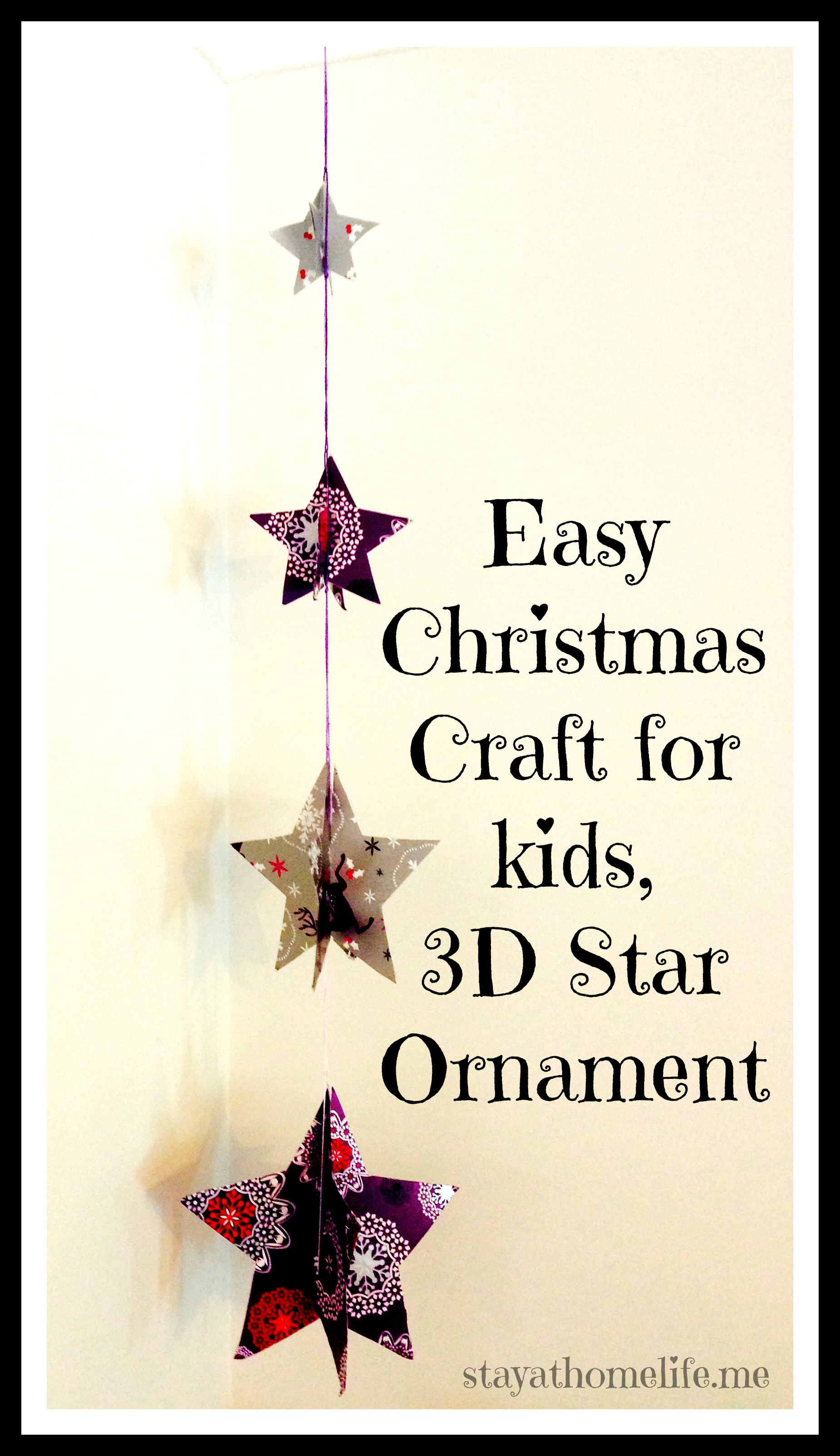 Easy kids craft hanging christmas decoration - Hanging christmas ornaments ...