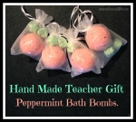 Home Made Teacher Gifts, Peppermint Bath Bombs