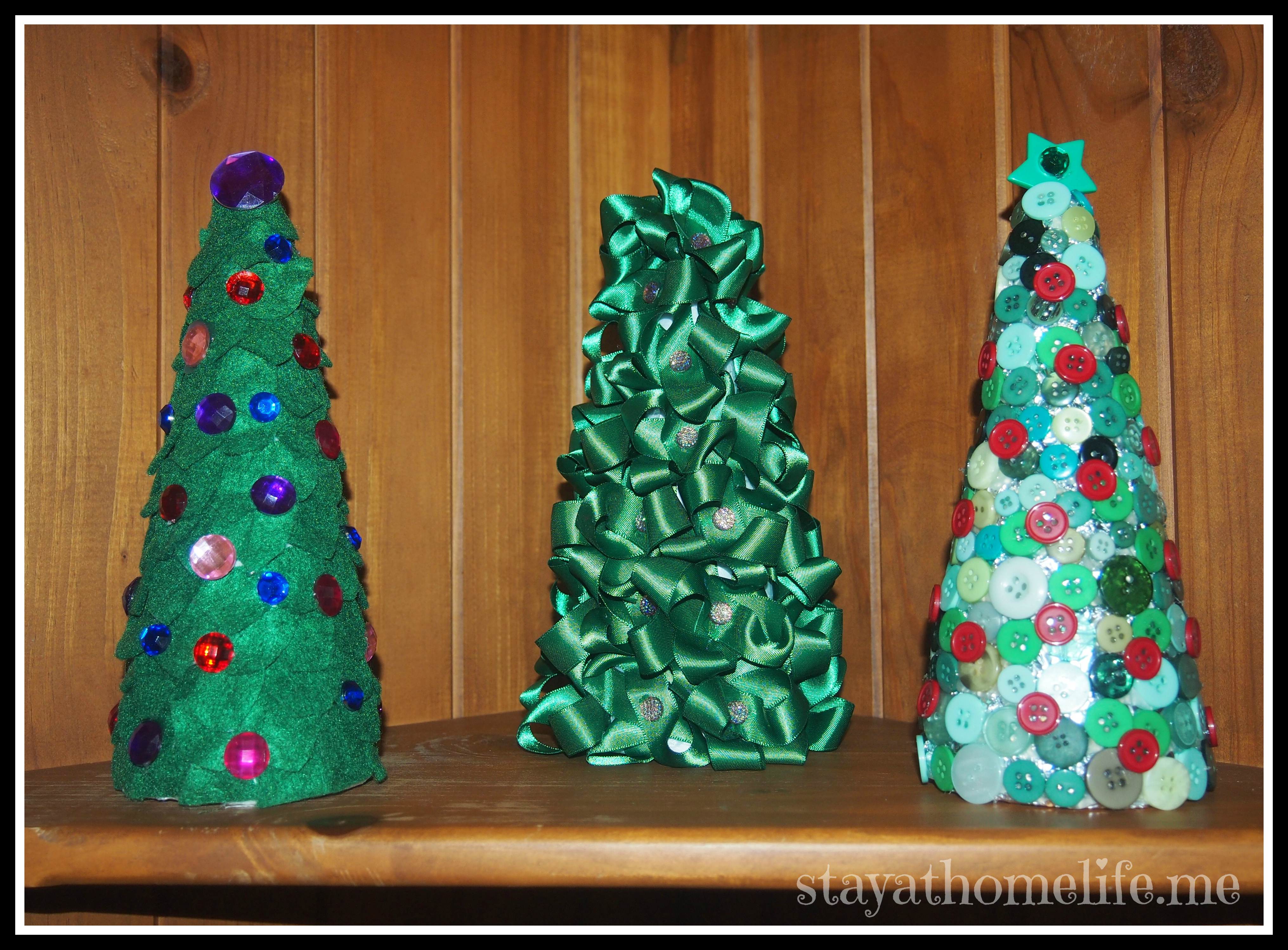 3 Easy Mini Christmas Tree Decorations | stay.at.home.life
