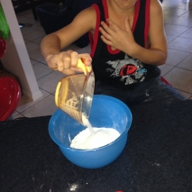 Mr 8 adding dry ingredients