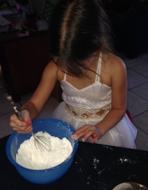 Ms4 with the important job of mixing the dry ingredients,