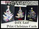 D.I.Y Leaf Print Christmas Cards