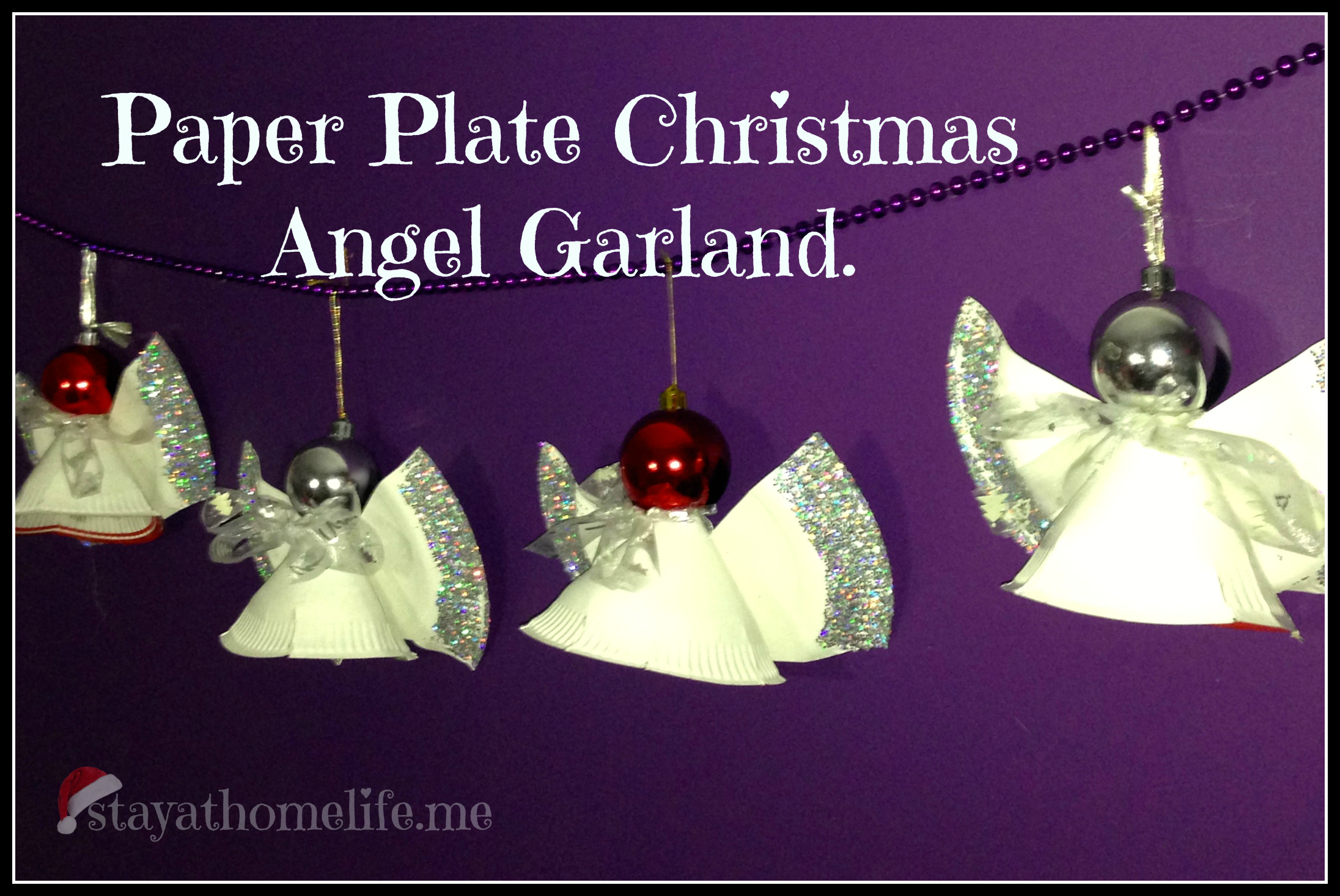 paper plate angel garland christmas craft stay at home