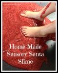 Make Your Own Sensory SantaSlime.