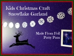 Christmas Craft for Kids, Snowflake Garland