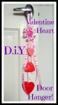 Valentine Craft, Love Heart Door Hanger.