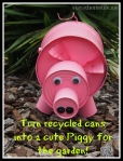 Turn Recycled Cans into Cute Garden Ornament