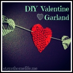 Heart Garland, Valentines Craft Project