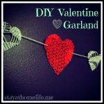 Heart Garland, Valentines CraftProject