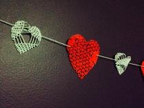 Doily hearts,