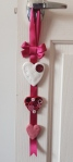 Valentine Craft, Love Heart Door Hanger Part 2