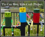 Tin Can Garden Men! School Holiday Project