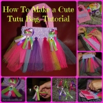 Rainbow Tutu Bag.  With Step By Step Instructions.