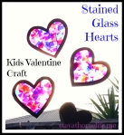 Kids Valentine Craft – Stained Glass Hearts