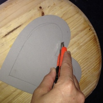 I then cut the centre out with a Box cutter.