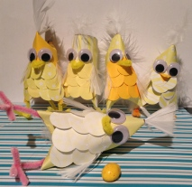 Easter Chicks. Paper craft.