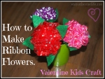 Ribbon Roses, Valentine Craft