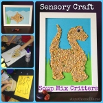 Soup Mix Scale Creatures, Sensory Craft