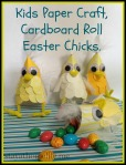 Cardboard Roll Easter Chicks – Kids Easter Craft.