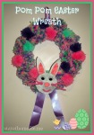Pom Pom Easter Wreath