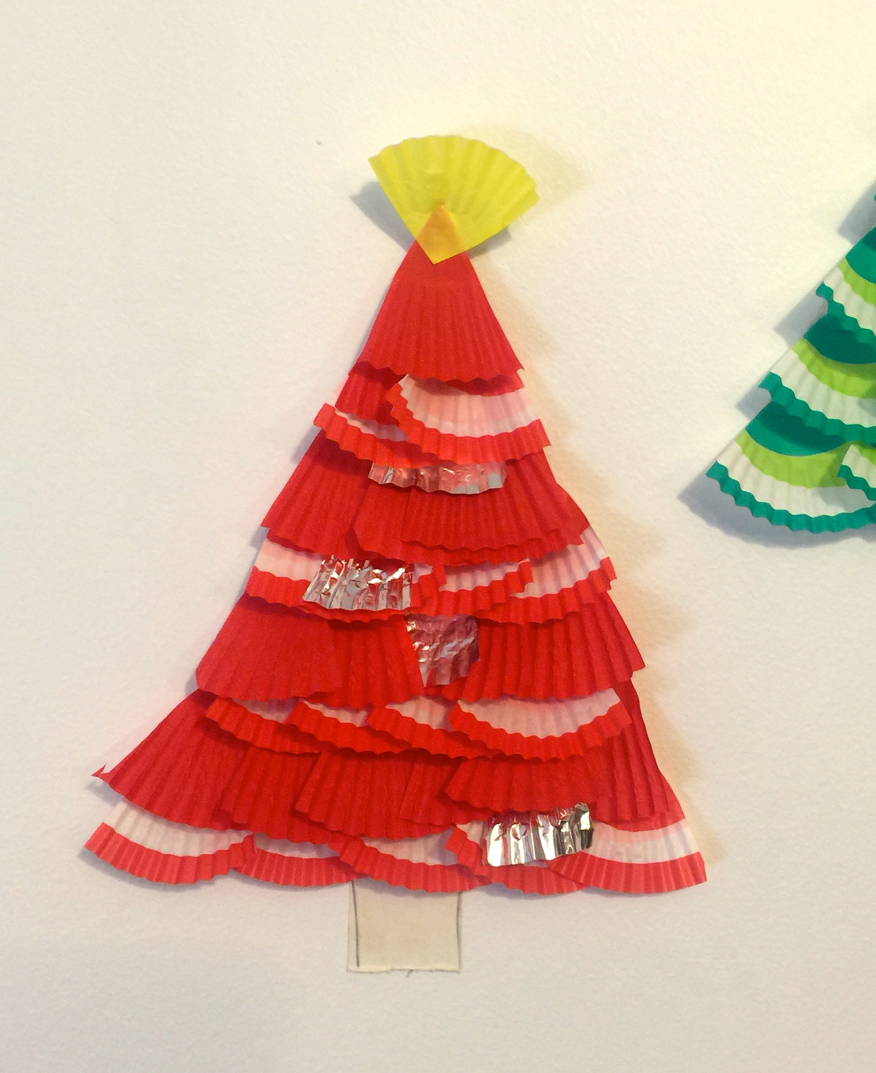 Christmas Craft For Kids Cup Cake Trees